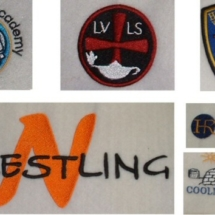 Embroidered company logos