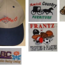 Hats and logos embroidery